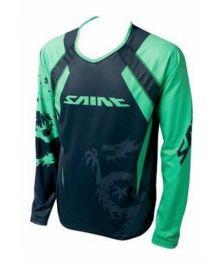 Tricou SHIMANO Saint cu maneca lunga - Negru/Verde XL
