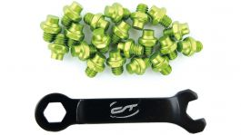 Pini pedale CONTEC R-pins Select- verde 20buc - incl. cheie