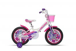 "Bicicleta ULTRA Larisa 16"" roti alum. - alb"