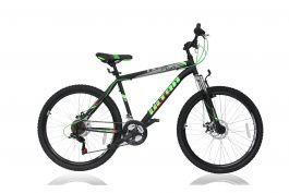 """Bicicleta ULTRA Razor 26"""" negru/verde 520mm"""