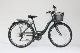 "Bicicleta ULTRA Tonus  CTB 28"" negru 460mm"