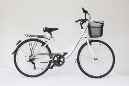 """Bicicleta ULTRA Tonus CTB 26"""" aluminiu alb 460mm"""