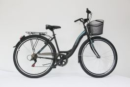 "Bicicleta ULTRA Tonus CTB 26"" aluminiu negru 460mm"