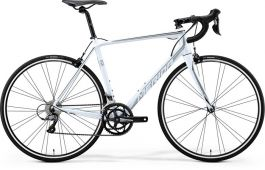 Bicicleta MERIDA Scultura 100 M/L(54) Alb Perla (Argintiu/ Negru)