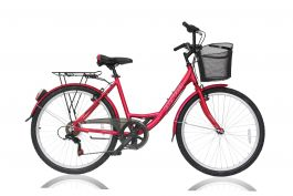 """Bicicleta ULTRA Riviera CTB 26"""" rosu 420mm"""