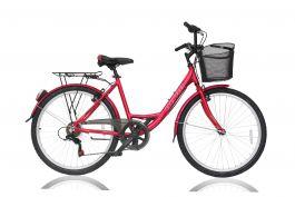 """Bicicleta ULTRA Riviera CTB 26"""" rosu 460mm"""