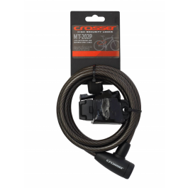 Incuietoare cablu CROSSER MT 202P - Cheie - 10mm*1800mm negru