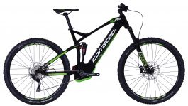 Bicicleta CORRATEC E-Power RS 150 Elite 29 negru / alb / verde - 460mm