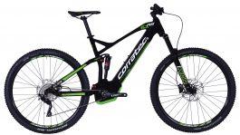 Bicicleta CORRATEC E-Power RS 150 Elite 29 negru / alb / verde - 460mm