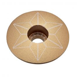 Capac furca SUPACAZ Star  - auriu (anodized)