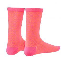 Sosete SUPACAZ Asanoha - roz neon / orange neon - S/M