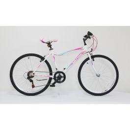 "Bicicleta ULTRA Gravita 26"" alb/roz/verde 460mm"