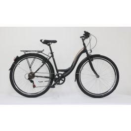 "Bicicleta ULTRA Regata CTB 28"" negru/bej/alb 460mm"