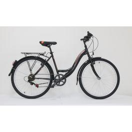"Bicicleta ULTRA Tonus CTB 26"" negr/bej/portocaliu 420mm"