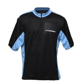 Tricou ciclism CROSSER CW-17-105 - Negru/Albastru M