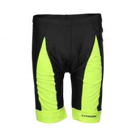 Pantaloni scurti ciclism CROSSER CW-17-106 cu bazon negru/albastru XL