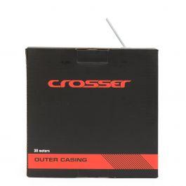 Camasa cablu frana CROSSER 2p - Rola 30m - Alb