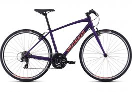 Bicicleta SPECIALIZED Sirrus V-Brake - Women's Spec - Satin Plum Purple/Acid Lava S