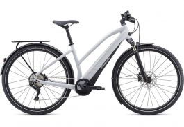 Bicicleta SPECIALIZED Turbo Vado 4.0 Step-Through - Gloss Dove Grey/Black/Liquid Silver M