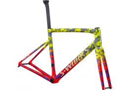 Cadru SPECIALIZED S-Works Tarmac Disc - Gloss Team Yellow/Rocket Red/Tarmac Black/Chameleon/Gold Foil 52