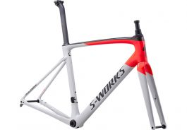 Cadru SPECIALIZED S-Works Roubaix - Gloss/Satin - Dove Gray/Rocket Red/Back 58