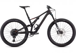 Bicicleta SPECIALIZED Stumpjumper Comp Carbon 27.5'' - Satin Carbon/Rocket Red L