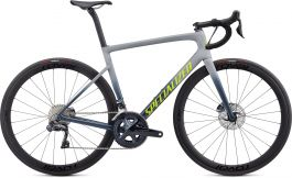 Bicicleta SPECIALIZED Tarmac Disc Expert - Satin Cool Grey/Cast Battleship/Team Yellow 58