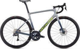 Bicicleta SPECIALIZED Tarmac Disc Expert - Satin Cool Grey/Cast Battleship/Team Yellow 49