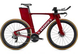 Bicicleta SPECIALIZED S-Work Shiv Disc - SRAM Red eTap AXS Gloss Metallic Crimson/Dove Grey XS