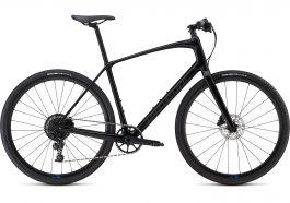 Bicicleta SPECIALIZED Sirrus X Comp Carbon - Men's Spec - Tarmac Black/Nice Blue/Black Reflective M