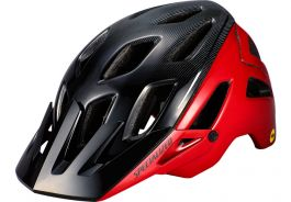 Casca SPECIALIZED Ambush MIPS with ANGi - Flo Red/Black Refraction M