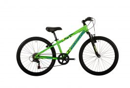 Bicicleta CORRATEC X-Vert Teen 24 verde/galben neon/albastru reflex