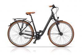 Bicicleta CROSS Citerra Low Step 28 Negru/Portocaliu 450mm