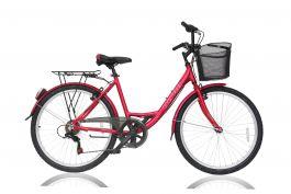 Bicicleta ULTRA Riviera CTB 26'' aluminiu Rosu 460mm