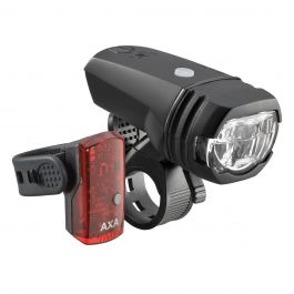 Far + stop AXA Greenline 50 lux USB 1 led negru
