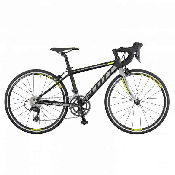 Bicicleta SCOTT 24 Speedster Jr Bk Grey Yellow 2017