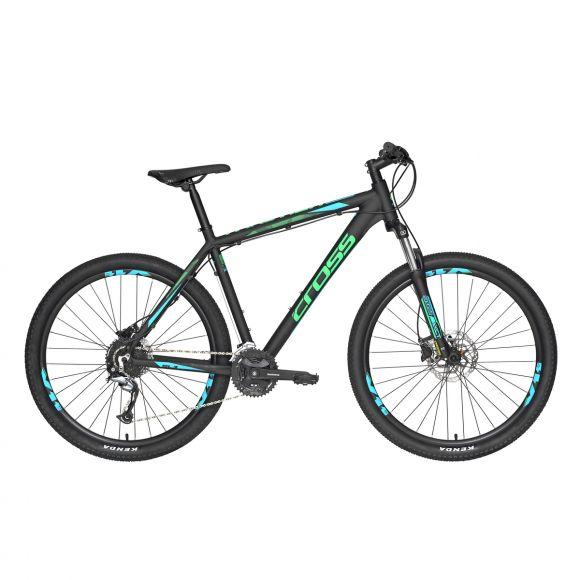 """Bicicleta CROSS TRACTION SL3 27.5"""" negru/verde 460mm"""