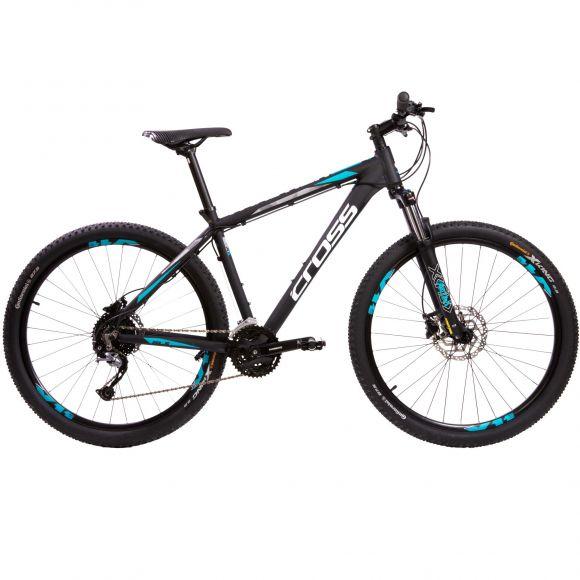 "Bicicleta CROSS TRACTION SL5 27.5"" negru/alb 460mm"