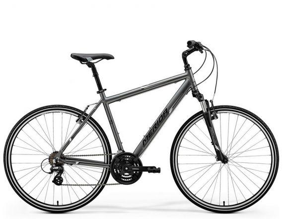 Bicicleta MERIDA Crossway 10-V M/L(52) Antracit Mat (Alb) 2018