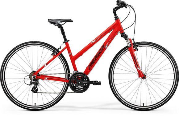 Bicicleta MERIDA Crossway 10-V Lady S(46L) Rosu Mat (Alb/ Negru) 2018