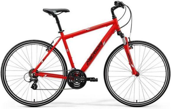 Bicicleta MERIDA Crossway 10-V S/M(48) Rosu Mat (Alb/ Negru) 2018