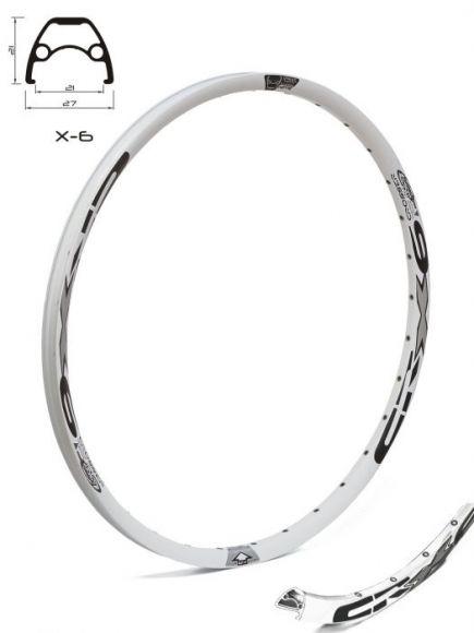 Janta CROSSER X6 27.5'' 32H alb / gri - capsata