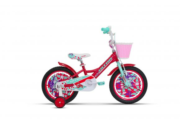 Bicicleta ULTRA Larisa 16'' rosu/vernil