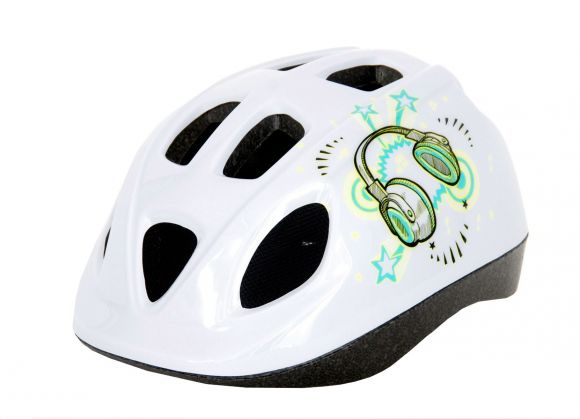 Casca HEADGY Stereo alb/verde S(52-56cm)