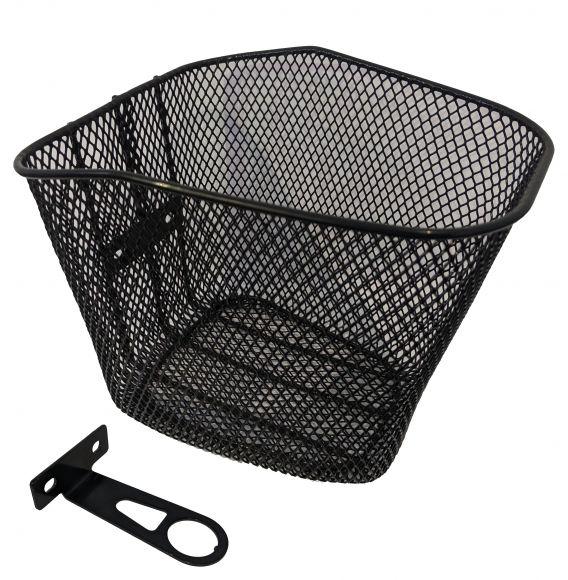 Cos bicicleta CROSSER negru + suport