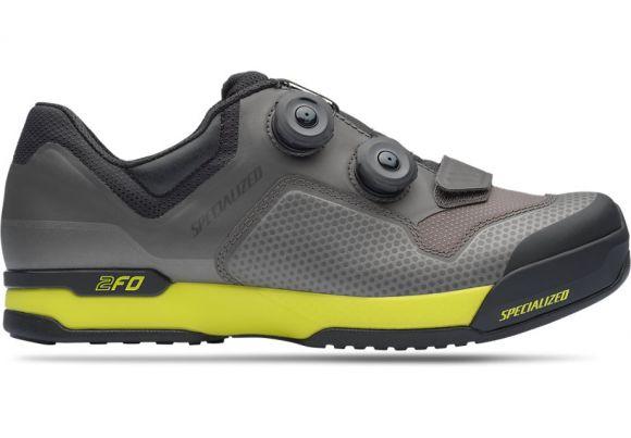Pantofi ciclism SPECIALIZED 2FO ClipLite Mtb - Charcoal/Ion 42