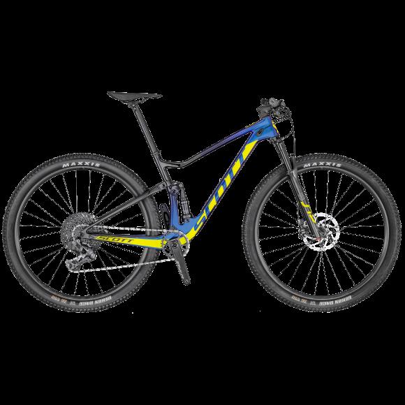 Bicicleta SCOTT Spark RC 900 Team Issue AXS Mov/Negru/Galben M 2020