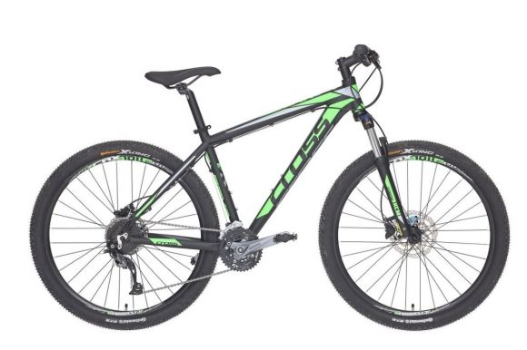 Bicicleta CROSS Grx 927 27.5 Negru/Verde/Gri 460mm