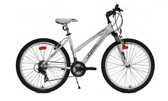 Bicicleta CROSS Julia 26 Alb/Mov 400mm