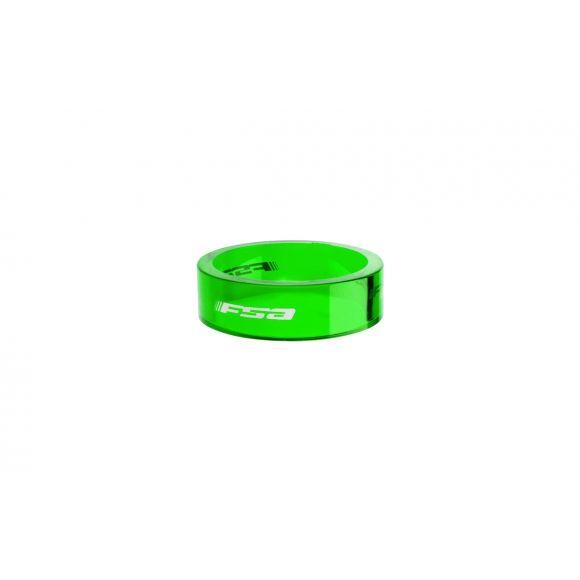"""Distantiere furca FSA Polycarbonat 1 1/8"""" 10mm 10buc Verde"""